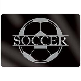 "Soccer 18"" X 12"" Aluminum Room Sign - Crest"