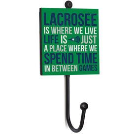 Guys Lacrosse Medal Hook - Lacrosse Is Where We Live