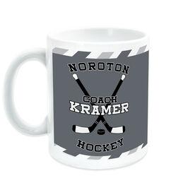 Hockey Coffee Mug Personalized Coach with Crossed Sticks