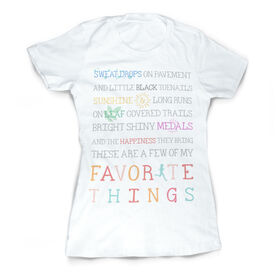 Vintage Running Fitted T-Shirt - Runner's Favorite Things