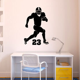 Personalized Football Running Back Silhouette Removable ChalkTalkGraphix Wall Decal