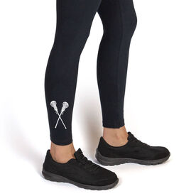 Girls Lacrosse Leggings - Crossed Sticks
