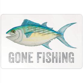 "Fly Fishing 18"" X 12"" Aluminum Room Sign - Gone Fishing"