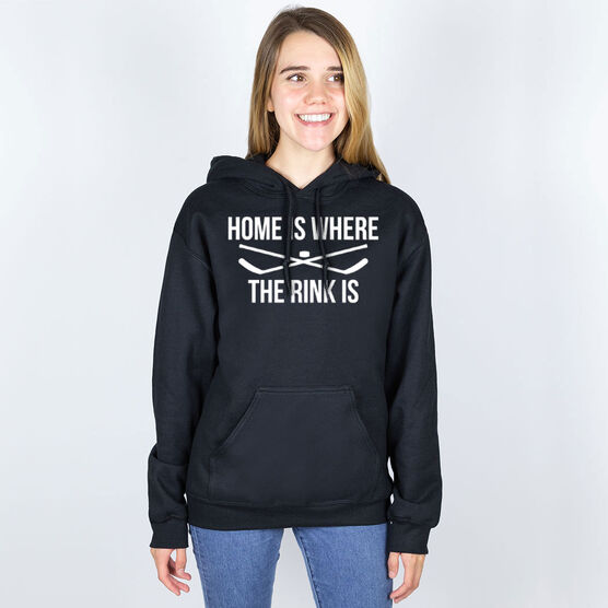 Hockey Hooded Sweatshirt - Home Is Where The Rink Is