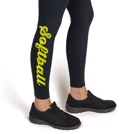 Softball Leggings Softball Script