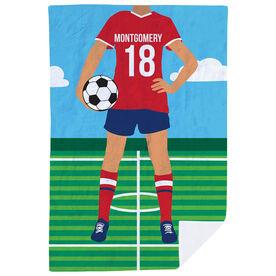 Soccer Premium Blanket - Female Soccer Player