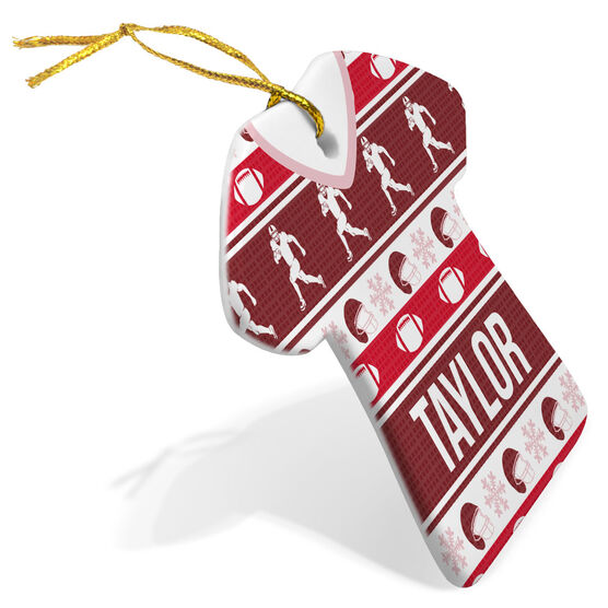 Football Porcelain Ornament Ugly Sweater