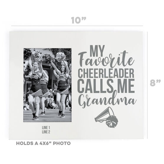Cheerleading Photo Frame - Grandma's Favorite Cheerleader
