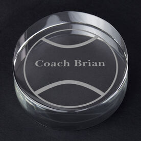 Tennis Personalized Engraved Crystal Gift - Custom Ball