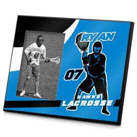 Guys Lacrosse Personalized Photo Frame Personalized Lacrosse Goalie