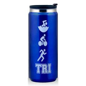 Stainless Steel Travel Mug Tri Swim Bike Run