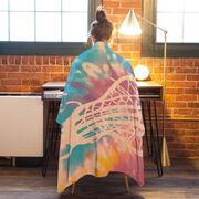Girls Lacrosse Premium Blanket - Stick with Tie-Dye