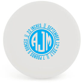 Personalized Monogram Birth Announcement Lacrosse Ball (White Ball)