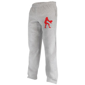 Volleyball Fleece Sweatpants Volleyball Silhouette Digger