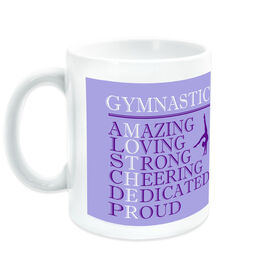 Gymnastics Coffee Mug - Mother Words (Girl Gymnast)
