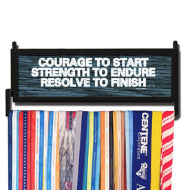 RunnersWALL Rustic Courage to Start Medal Display