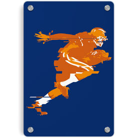 Football Metal Wall Art Panel - In The Blur Of A Moment