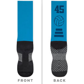 Volleyball Printed Mid-Calf Socks - Team Colors