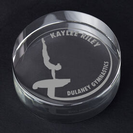 Gymnastics Personalized Engraved Crystal Gift - Customized Vault (Female)
