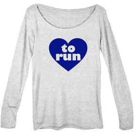 Women's Runner Scoop Neck Long Sleeve Tee Heart To Run