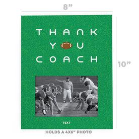 Football Photo Frame - Thank You Coach