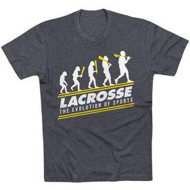 Guys Lacrosse Short Sleeve T-Shirt - Evolution of Lacrosse