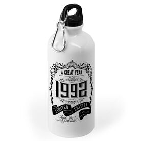 Personalized 20 oz. Stainless Steel Water Bottle - Vintage Wine Label