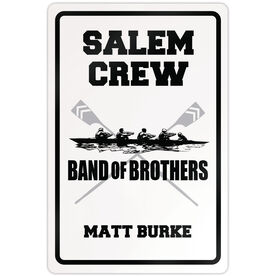"Crew 18"" X 12"" Aluminum Room Sign Personalized Crew Band Of Brothers"