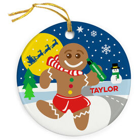 Running Porcelain Ornament Catch Me If You Can Gingerbread Man