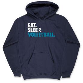 Volleyball Hooded Sweatshirt - Eat. Sleep. Volleyball.