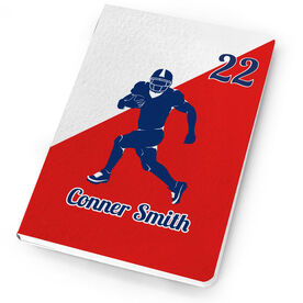 Football Notebook Personalized Football Silhouette