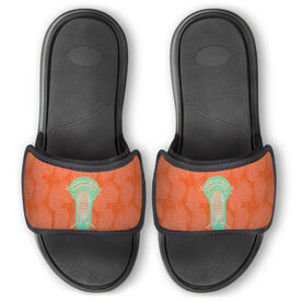 Guys Lacrosse Repwell™ Slide Sandals - Chill Palm Leaf Stick