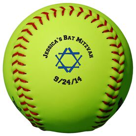 Personalized Softball - Bat Mitzvah