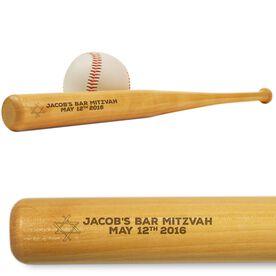 Baseball Mini Engraved Bat Bar Mitzvah