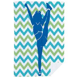 Cheerleading Premium Blanket - Chevron Silhouette