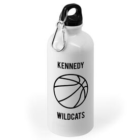 Basketball 20 oz. Stainless Steel Water Bottle - Personalized Basketball with Team Name