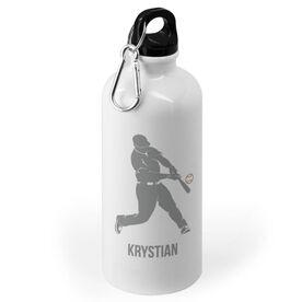 Baseball 20 oz. Stainless Steel Water Bottle - Baseball Batter Silhouette