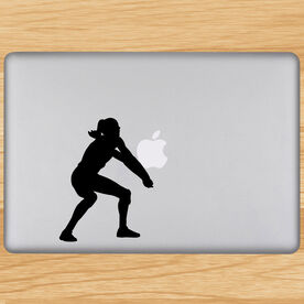 Volleyball Player Bump Pass Removable ChalkTalkGraphix Laptop Decal