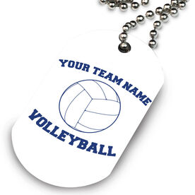 Volleyball Printed Dog Tag Necklace Volleyball Team Name