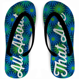 Tennis Flip Flops All About That Ace