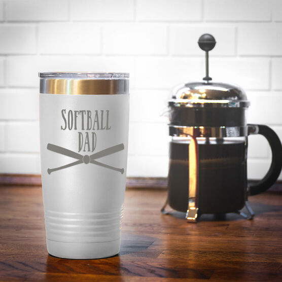 Softball 20oz. Double Insulated Tumbler - Softball Dad