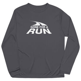 Men's Running Long Sleeve Performance Tee - Gone For a Run White Logo