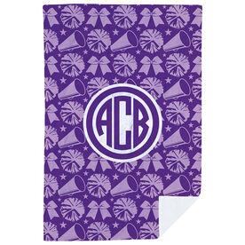 Cheerleading Premium Blanket - Bows & Megaphones with Monogram