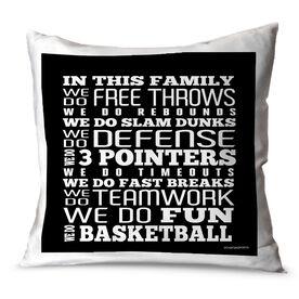 Basketball Throw Pillow Basketball We Do Basketball