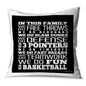 Basketball Throw Pillow Basketball We Do Basketball
