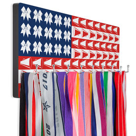 Cheerleading Hooked on Medals Hanger - Cheer For America