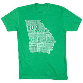 Running Short Sleeve T-Shirt - Georgia State Runner