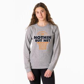 Basketball Tshirt Long Sleeve - Nothin But Net