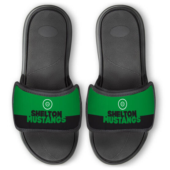 Wrestling Repwell® Slide Sandals - Team Name Colorblock