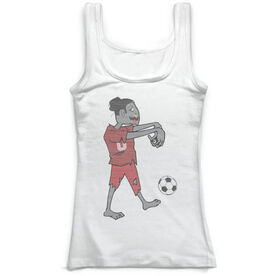 Soccer Vintage Fitted Tank Top - Soccer Zombie